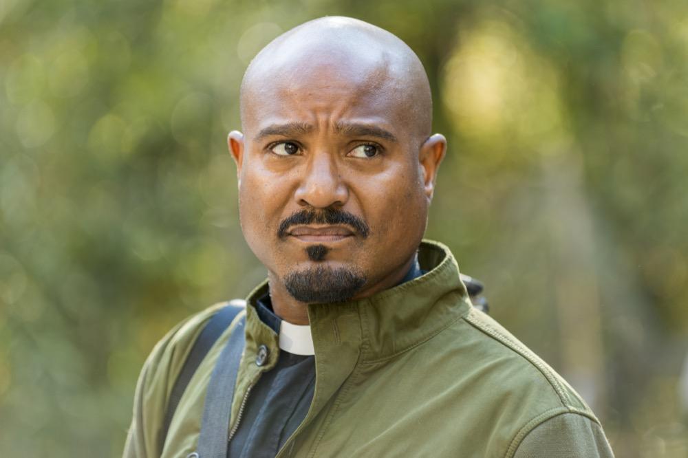 Seth Gilliam as Father Gabriel Stokes- The Walking Dead _ Season 7, Episode 15 - Photo Credit: Gene Page/AMC