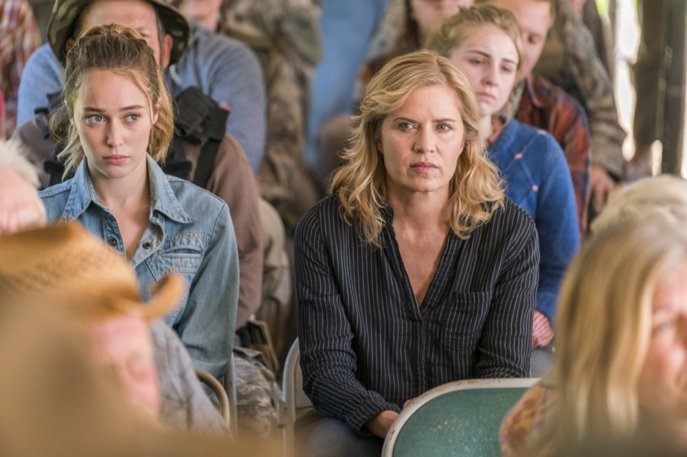 Alycia Debnam-Carey as Alicia Clark, Kim Dickens as Madison Clark- Fear the Walking Dead _ Season 3, Episode 3 - Photo Credit: Michael Desmond/AMC