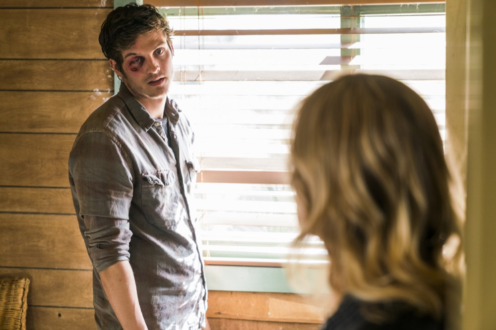 Kim Dickens as Madison Clark, Daniel Sharman as Troy Otto- Fear the Walking Dead _ Season 3, Episode 3 - Photo Credit: Michael Desmond/AMC