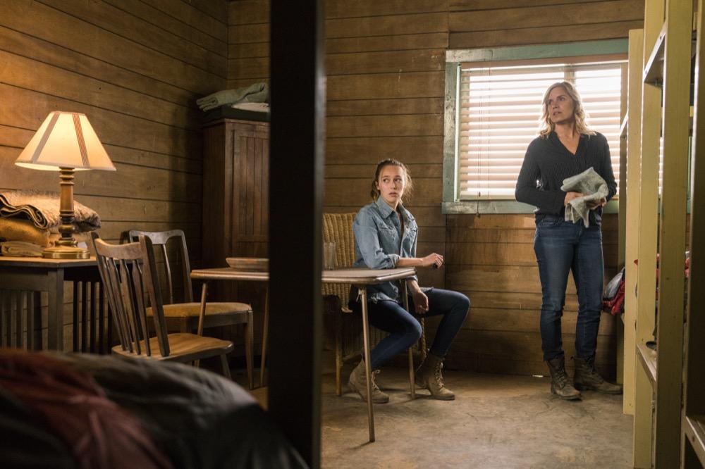 Kim Dickens as Madison Clark, Alycia Debnam-Carey as Alicia Clark- Fear the Walking Dead _ Season 3, Episode 3 - Photo Credit: Michael Desmond/AMC