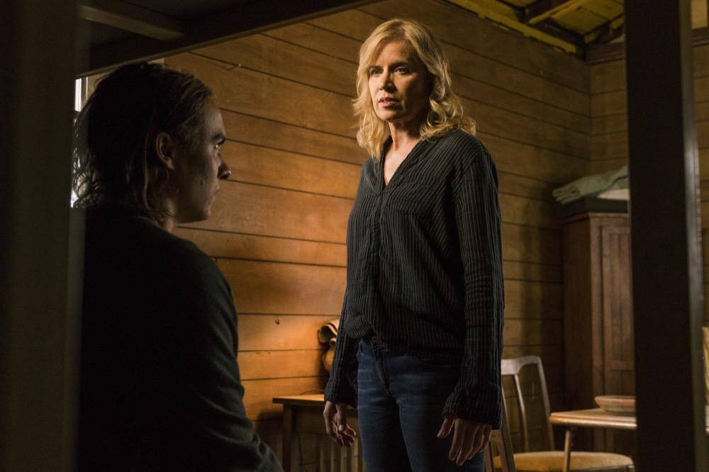 Kim Dickens as Madison Clark, Frank Dillane as Nick Clark- Fear the Walking Dead _ Season 3, Episode 3 - Photo Credit: Michael Desmond/AMC