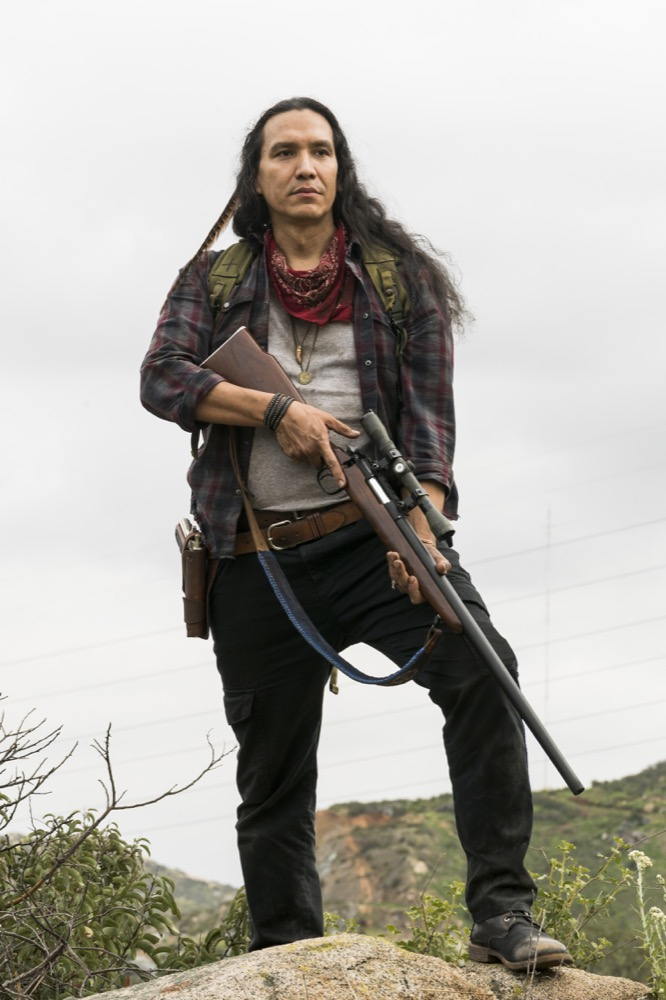 Michael Greyeyes as Qaletaqa Walker - Fear the Walking Dead _ Season 3, Episode 5 - Photo Credit: Richard Foreman, Jr/AMC
