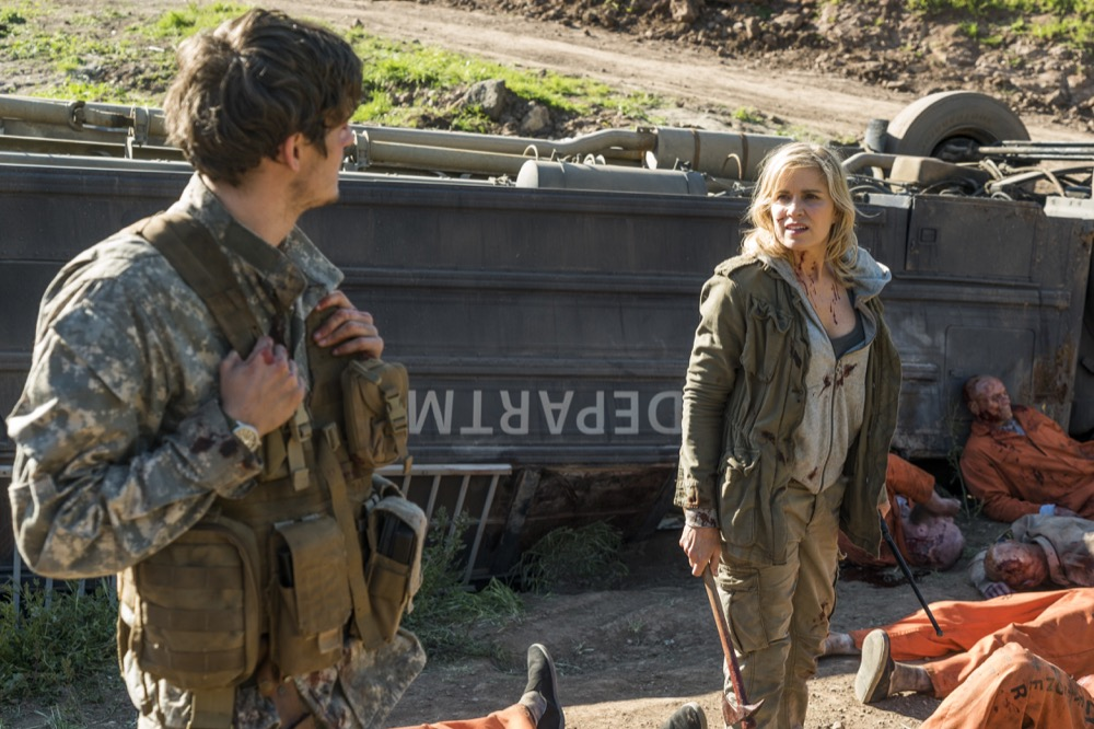 Kim Dickens as Madison Clark, Daniel Sharman as Troy Otto - Fear the Walking Dead _ Season 3, Episode 5 - Photo Credit: Richard Foreman, Jr/AMC