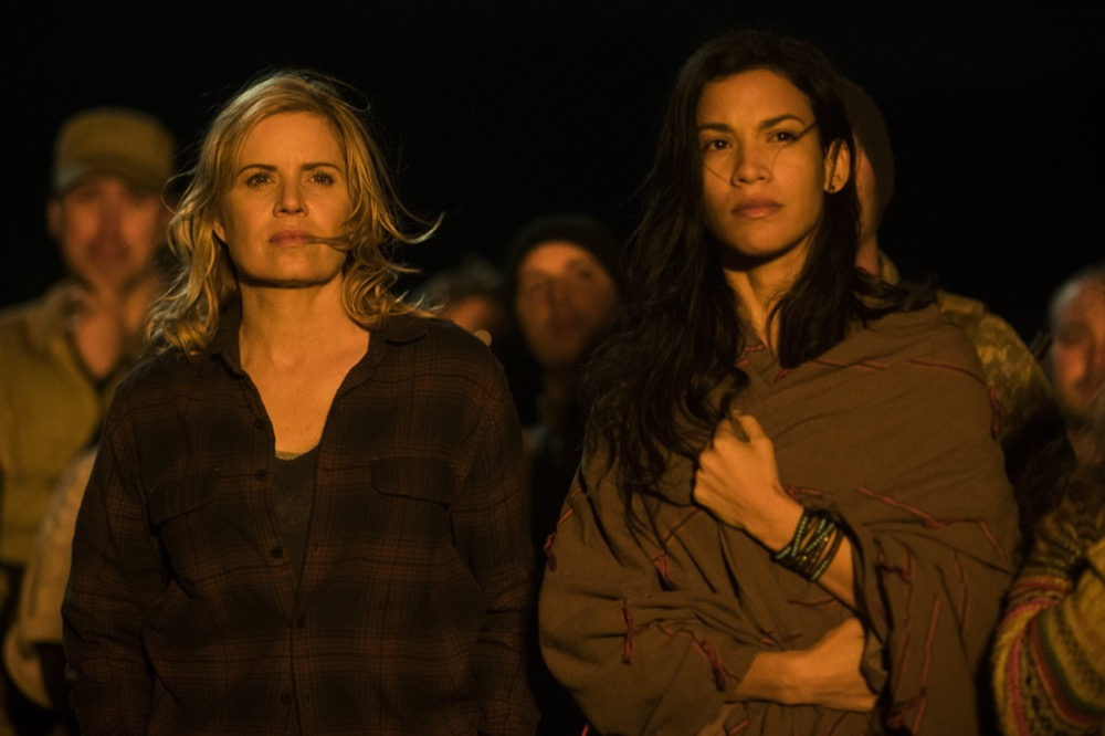 Kim Dickens as Madison Clark, Danay Garcia as Luciana - Fear the Walking Dead _ Season 3, Episode 5 - Photo Credit: Richard Foreman, Jr/AMC