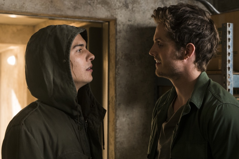 Frank Dillane as Nick Clark, Daniel Sharman as Troy Otto - Fear the Walking Dead _ Season 3, Episode 6 - Photo Credit: Richard Foreman, Jr/AMC