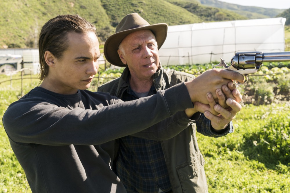 Frank Dillane as Nick Clark, Dayton Callie as Jeremiah Otto - Fear the Walking Dead _ Season 3, Episode 6 - Photo Credit: Richard Foreman, Jr/AMC