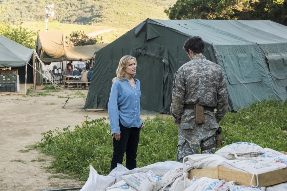 Kim Dickens as Madison Clark, Daniel Sharman as Troy Otto - Fear the Walking Dead _ Season 3, Episode 7 - Photo Credit: Richard Foreman, Jr/AMC