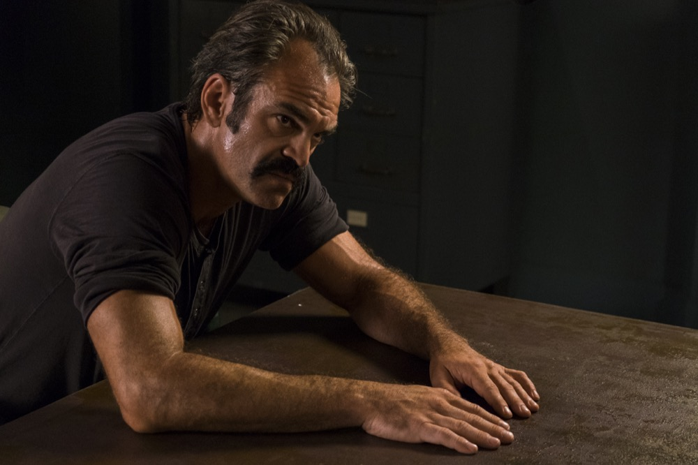 Steven Ogg as Simon - The Walking Dead _ Season 8, Episode 5 - Photo Credit: Gene Page/AMC