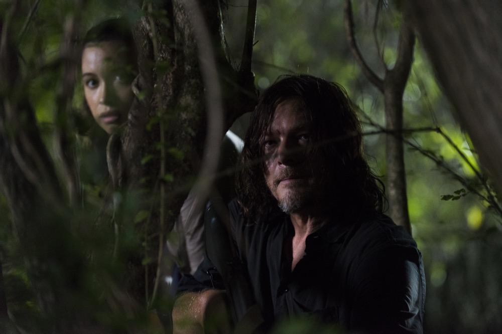 Christian Serratos as Rosita Espinosa, Norman Reedus as Daryl Dixon - The Walking Dead _ Season 8, Episode 8 - Photo Credit: Gene Page/AMC