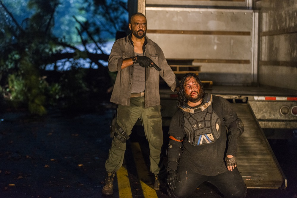 Cooper Andrews as Jerry, Mike Seal as Gary - The Walking Dead _ Season 8, Episode 8 - Photo Credit: Gene Page/AMC