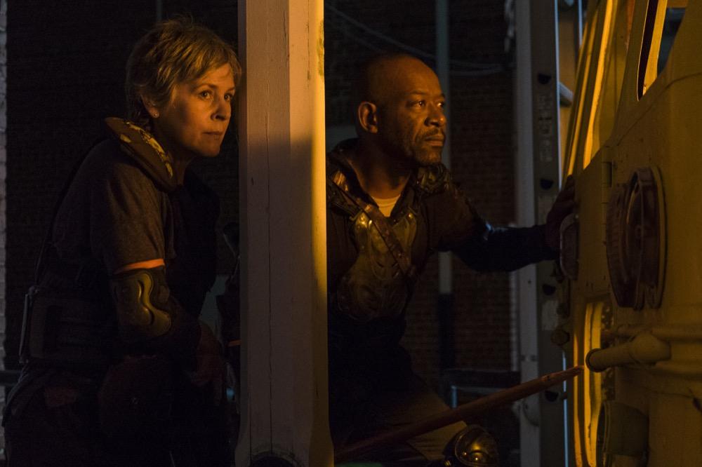 Melissa McBride as Carol Peletier, Lennie James as Morgan Jones - The Walking Dead _ Season 8, Episode 9 - Photo Credit: Gene Page/AMC