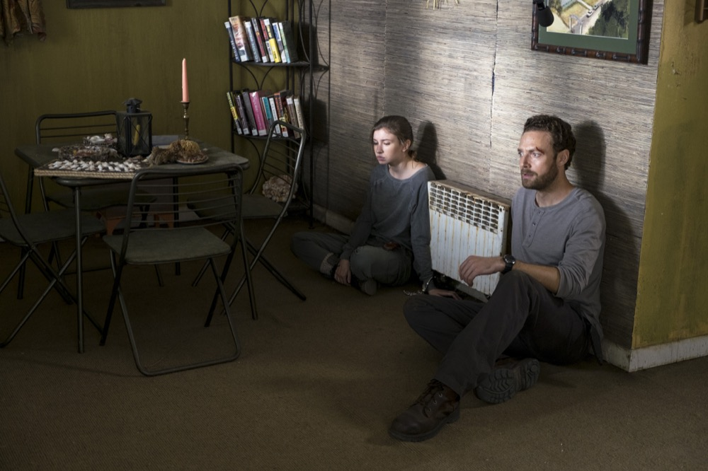 Katelyn Nacon as Enid, Ross Marquand as Aaron - The Walking Dead _ Season 8, Episode 10 - Photo Credit: Gene Page/AMC