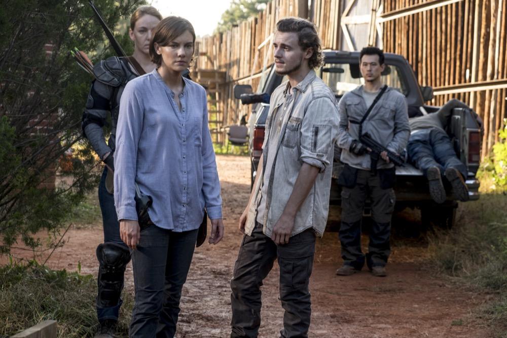 Lauren Cohan as Maggie Greene, Callan McAuliffe as Alden - The Walking Dead _ Season 8, Episode 13 - Photo Credit: Gene Page/AMC