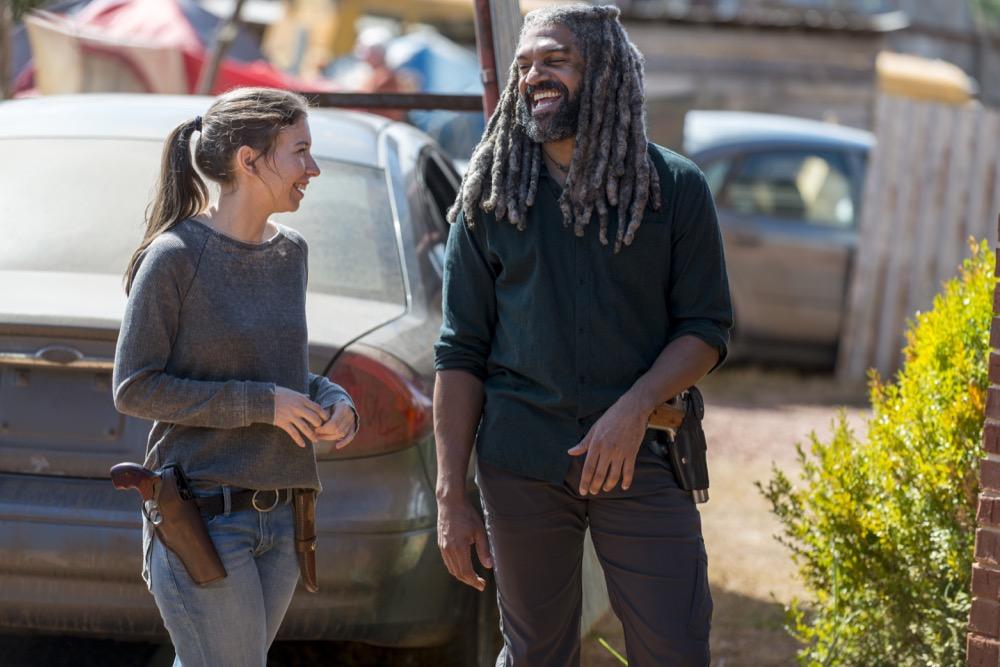BTS, Katelyn Nacon as Enid, Khary Payton as Ezekiel - The Walking Dead _ Season 8, Episode 13 - Photo Credit: Gene Page/AMC