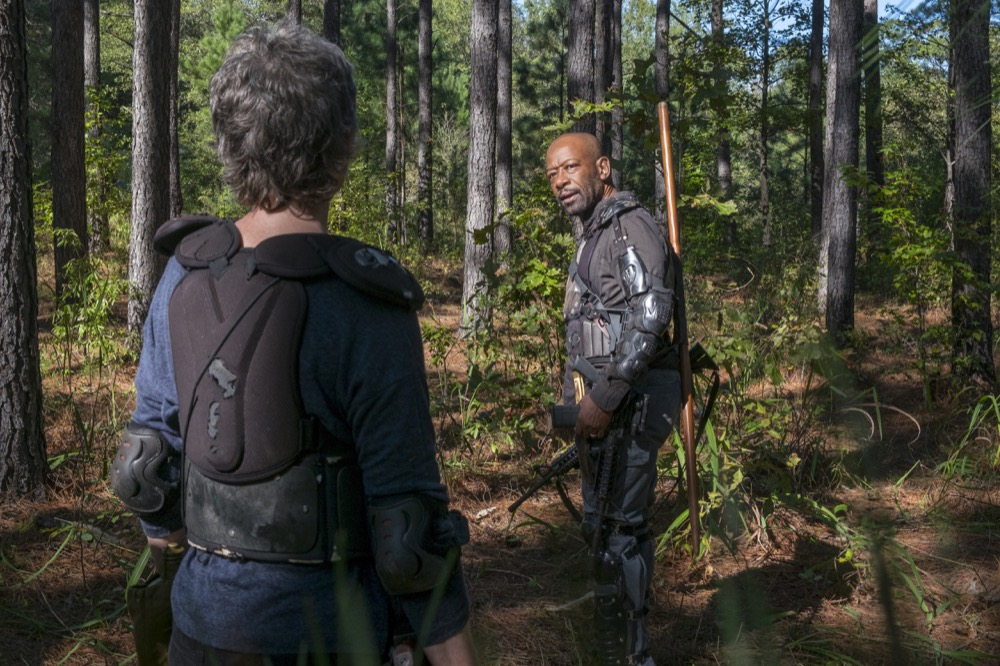 Melissa McBride as Carol Peletier, Lennie James as Morgan Jones - The Walking Dead _ Season 8, Episode 14 - Photo Credit: Gene Page/AMC