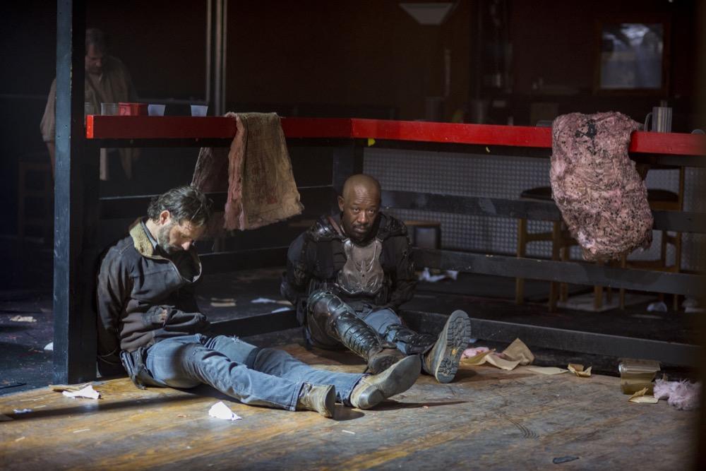 Andrew Lincoln as Rick Grimes, Lennie James as Morgan Jones - The Walking Dead _ Season 8, Episode 14 - Photo Credit: Gene Page/AMC