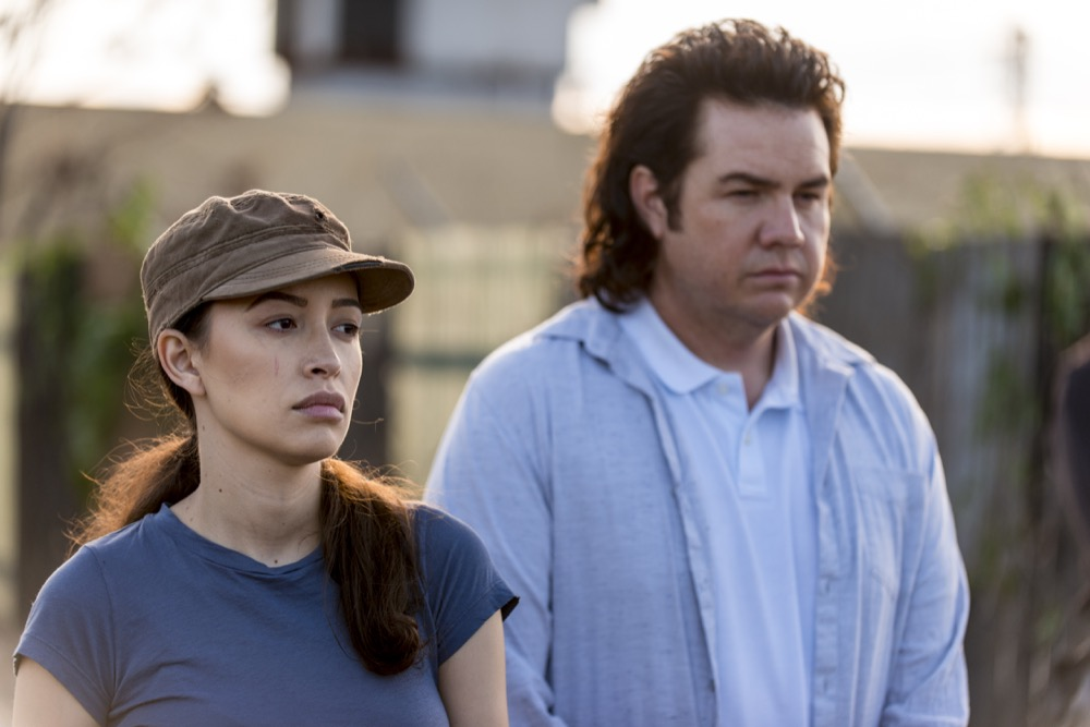 Josh McDermitt as Dr. Eugene Porter, Christian Serratos as Rosita Espinosa - The Walking Dead _ Season 8, Episode 15 - Photo Credit: Gene Page/AMC