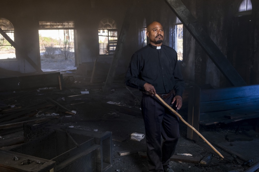 Seth Gilliam as Father Gabriel Stokes - The Walking Dead _ Season 8, Episode 16 - Photo Credit: Gene Page/AMC