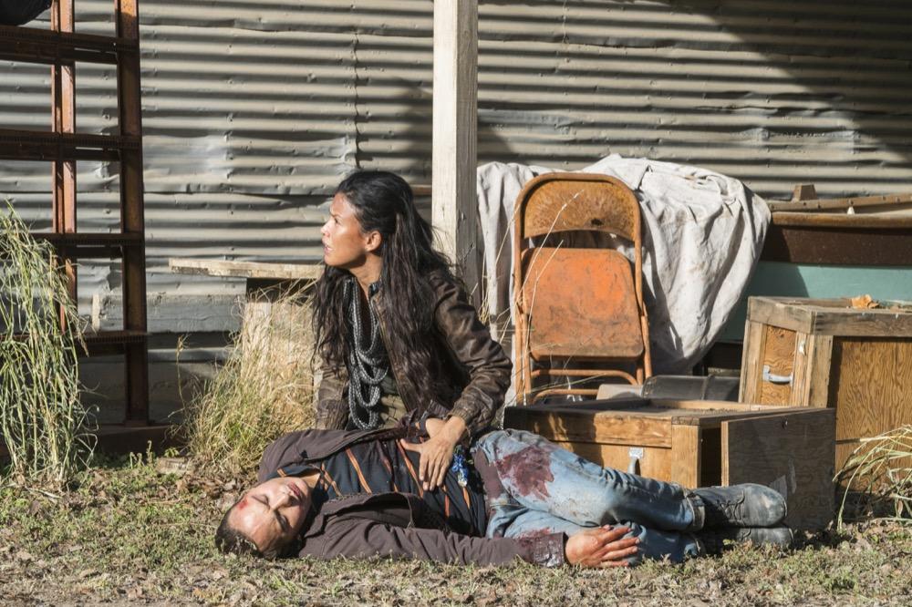 Frank Dillane as Nick Clark, Danay Garcia as Luciana - Fear the Walking Dead _ Season 4, Episode 3 - Photo Credit: Richard Foreman, Jr/AMC