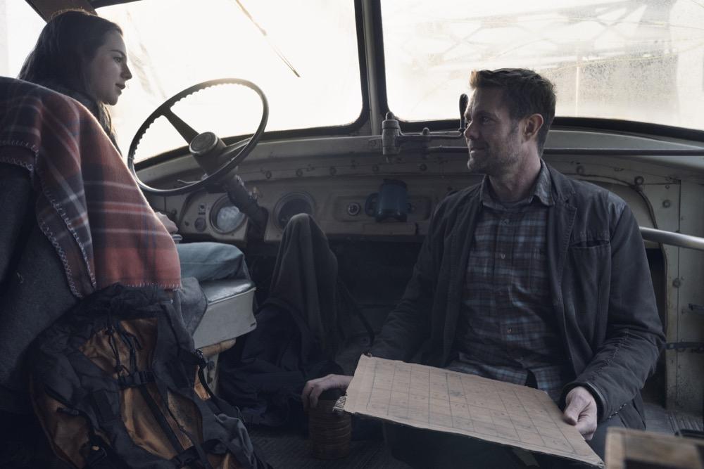 Alexa Nisenson as Charlie, Garret Dillahunt as John Dorie- Fear the Walking Dead _ Season 4, Episode 9 - Photo Credit: Ryan Green/AMC