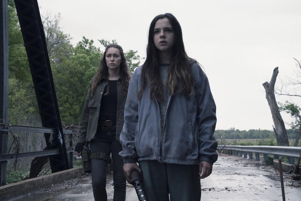 Alycia Debnam-Carey as Alicia Clark, Alexa Nisenson as Charlie- Fear the Walking Dead _ Season 4, Episode 10 - Photo Credit: Ryan Green/AMC
