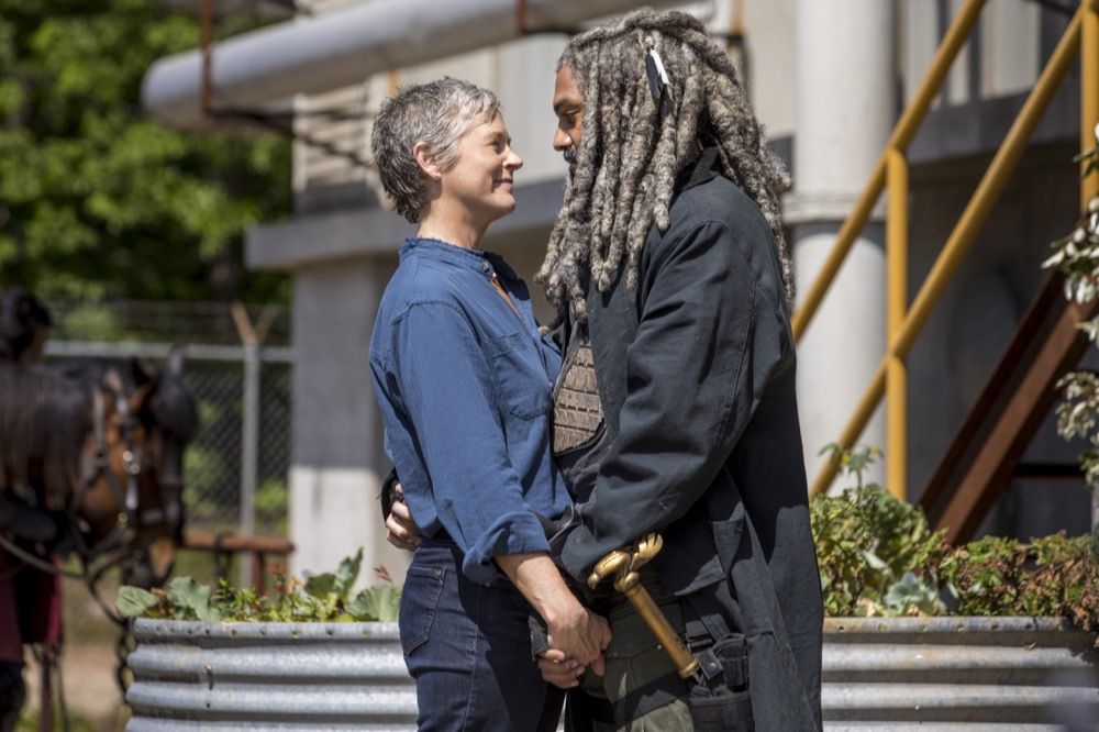 Khary Payton as Ezekiel, Melissa McBride as Carol Peletier- The Walking Dead _ Season 9, Episode 1 - Photo Credit: Jackson Lee Davis/AMC