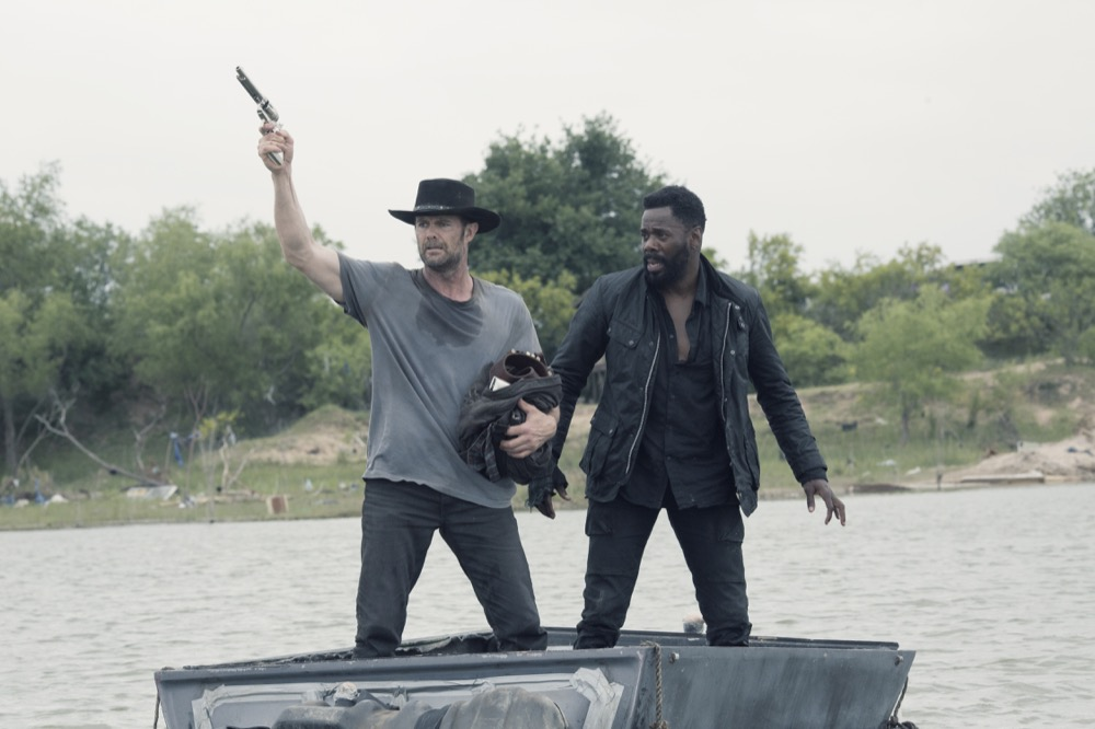 Colman Domingo as Victor Strand, Garret Dillahunt as John Dorie- Fear the Walking Dead _ Season 4, Episode 13 - Photo Credit: Ryan Green/AMC