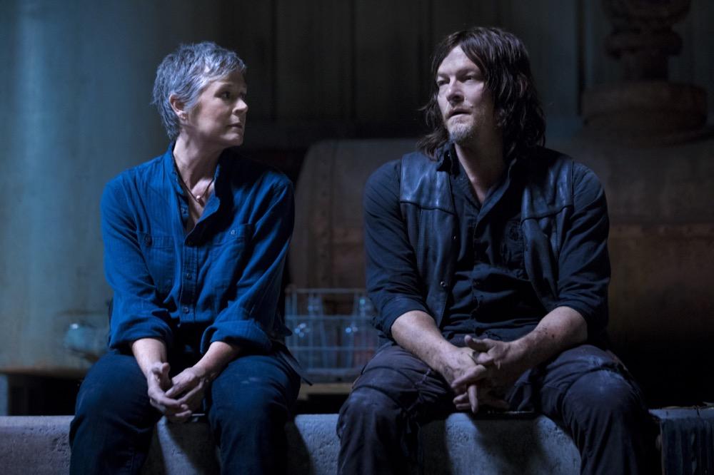 Norman Reedus as Daryl Dixon, Melissa McBride as Carol Peletier- The Walking Dead _ Season 9, Episode 1 - Photo Credit: Jackson Lee Davis/AMC
