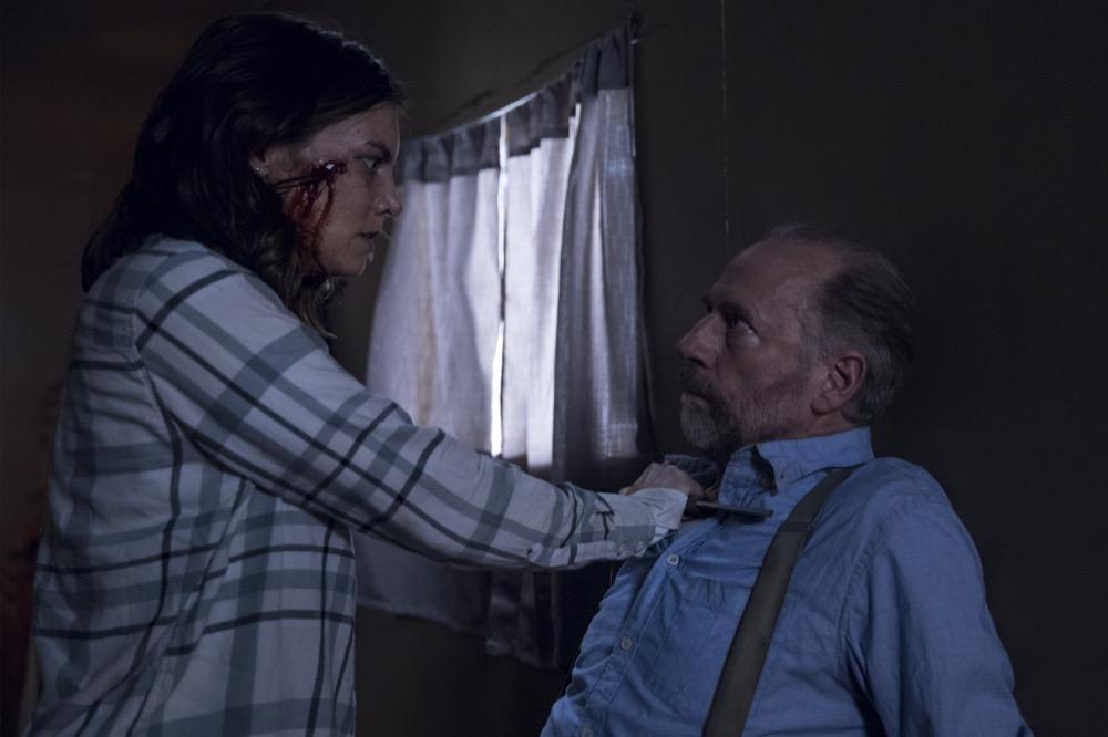 Lauren Cohan as Maggie Rhee, Xander Berkeley as Gregory- The Walking Dead _ Season 9, Episode 1 - Photo Credit: Jackson Lee Davis/AMC