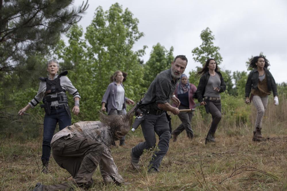 Andrew Lincoln as Rick Grimes, Melissa McBride as Carol Peletier- The Walking Dead _ Season 9, Episode 2 - Photo Credit: Jackson Lee Davis/AMC