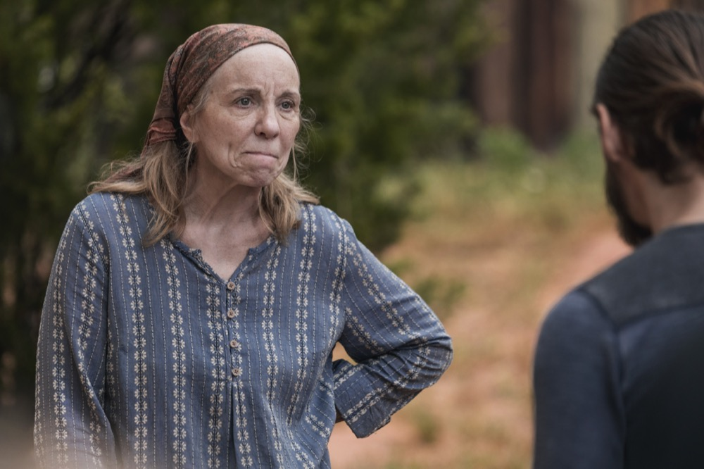 Brett Butler as Tammy Rose, Tom Payne as Paul 'Jesus' Rovia- The Walking Dead _ Season 9, Episode 2 - Photo Credit: Jackson Lee Davis/AMC