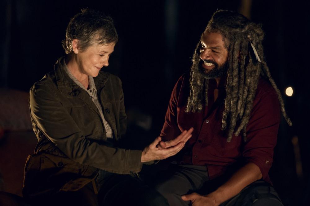 Melissa McBride as Carol Peletier, Khary Payton as Ezekiel- The Walking Dead _ Season 9, Episode 2 - Photo Credit: Jackson Lee Davis/AMC