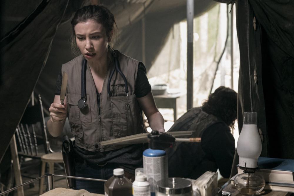 Katelyn Nacon as Enid, Norman Reedus as Daryl Dixon- The Walking Dead _ Season 9, Episode 2 - Photo Credit: Jackson Lee Davis/AMC